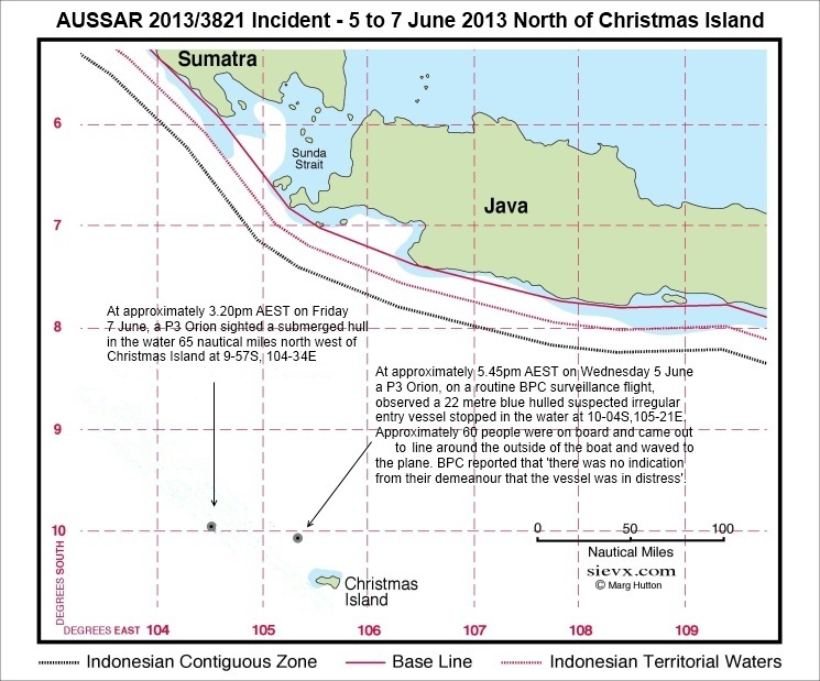 AusSar 2013/3821 Incident - 5 to 7 June 2013 north of Christmas Island