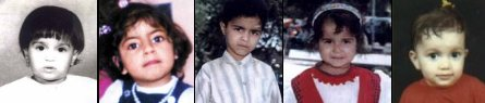 5 of the 146 children who drowned on SIEVX (photos from nahrain.com & SCATT)