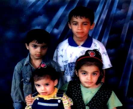 Ghazi Al Ghizzy's children who drowned on SIEVX, Hussein, 7; Mohammed, 10; Alyaa,4 and Zahraa,8
